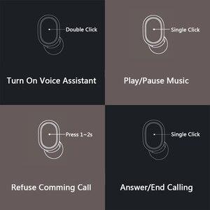 Image 4 - מקורי Xiaomi Redmi Airdots 2 Xiaomi אלחוטי אוזניות קול בקרת Bluetooth 5.0 רעש הפחתת שליטה ברז