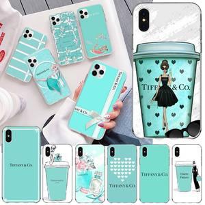 NBDRUICAI Fashion Blue Box Girl TPU black Phone Case Cover Hull for iPhone 11 pro XS MAX 8 7 6 6S Plus X 5S SE 2020 XR cover(China)