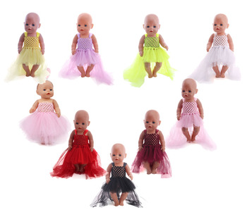 Doll clothes, sarongs, 18-inch American dolls and 43 cm bald doll accessories, children's toys, best gifts for Christmas image