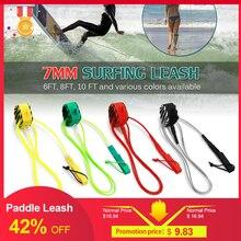 Alta qualidade pá trela de surf trela prancha aço liso swivel surf perna corda de aço suave pá placa trela 6ft