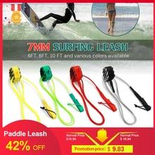 คุณภาพสูงPaddle Leash Surf Leash Surfboard Leash Smoothสตีลท่องขาเชือกเรียบเหล็กPaddle Board 6FT