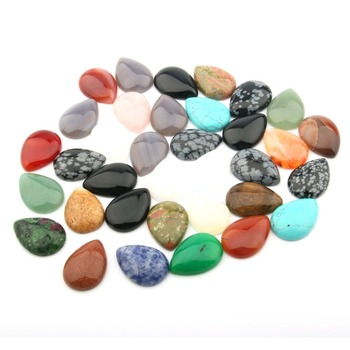Natural Stone quartz Cabochon Beads Flat Back Water Drop Shape No Hole Loose Beads For jewelry making DIY Ring accessories baroqueonly naked pair beads purple big size high quality flat beads natural fresh water pearl for earring making bcz 2