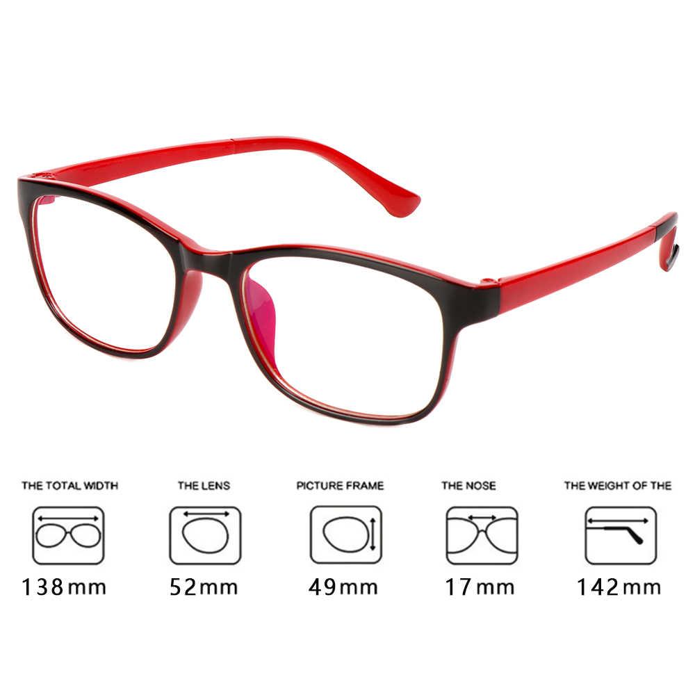 1 قطعة الضوء الأزرق حجب نظارات نظارات للقراءة للجنسين ساحة واضح عدسة الكمبيوتر النظارات إطارات اكسسوارات UV400