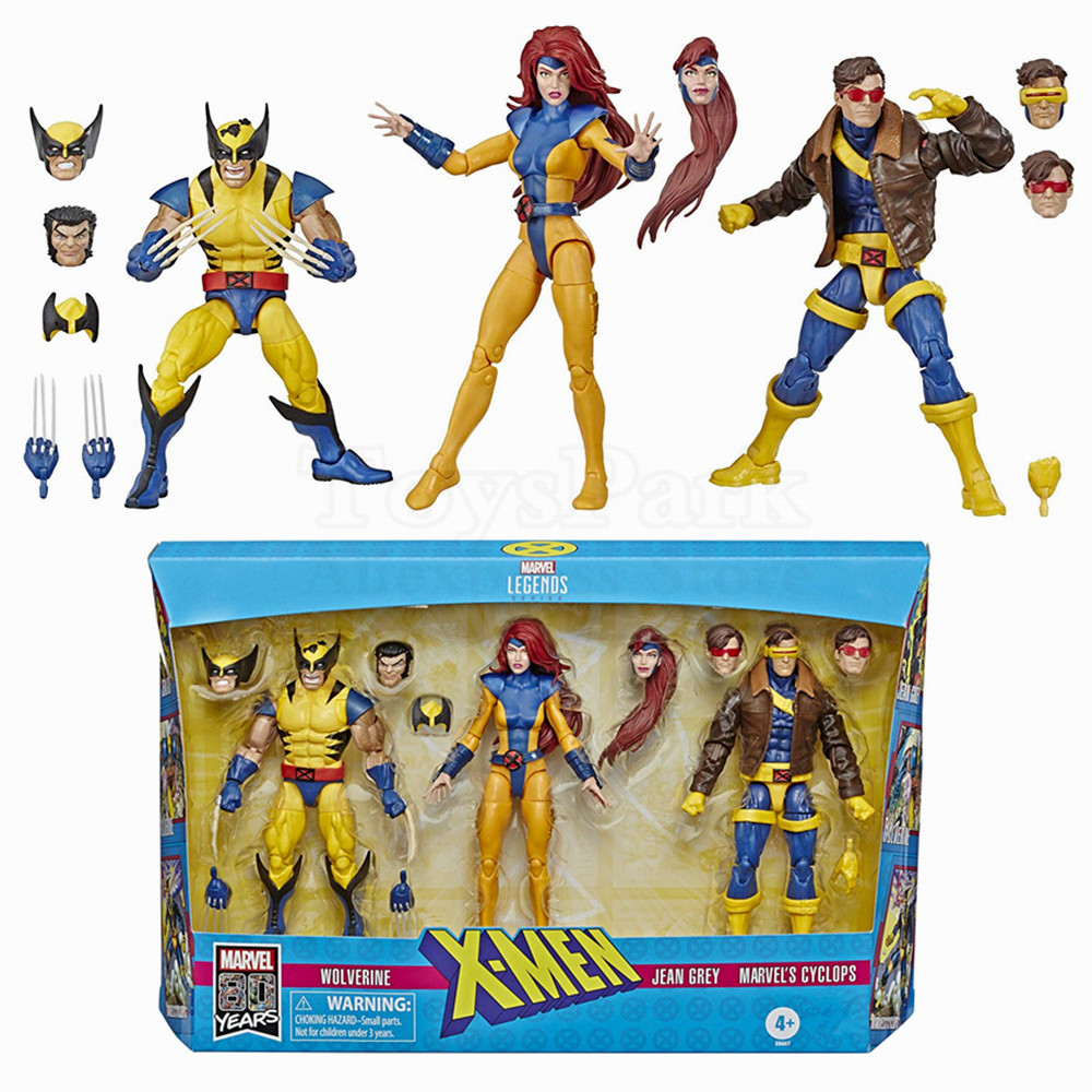 Marvel Legends 80th X Men Wolverine Phoenix Cyclops 3 Pack 6