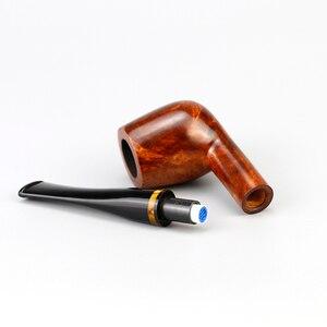 Image 5 - Классическая деревянная трубка Briar, 9 мм, фильтр, фотография, случайная гравировка, трубка Briar, курительная трубка, набор бесплатных инструментов