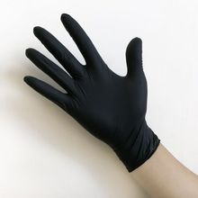 цена на 100pcs / box disposable black rubber gloves tattoo anti-corrosion latex acid and alkali resistant auto repair gloves