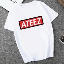 Kpop Group ATEEZ T-shirt Tops adolescent Z femmes, Hongjoong Seonghwa Yunho Yeosang San Mingi Wooyoung Jongho ATEEZ A