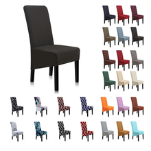 Hot Grey Black Chair Cover Elastic Chair Covers For Living Room Dining Room Kitchen Home Furniture