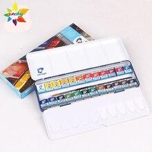 15/18/24/36-color Solid Watercolor Pearlescent-Color Art-Supplies Portable-Set Artist-Series