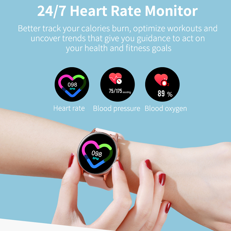Women IP68 Waterproof Smart Watch for iPhone xiaomi LG with Bluetooth and Heart Rate Monitor Fitness Tracker 2