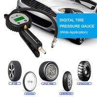 Digital medidor de pneu inflator carro preciso medidor de pneu ar display lcd manômetro barómetros testador para carro caminhão motocicleta Sistemas de monitoramento de pressão dos pneus Automóveis e motos -