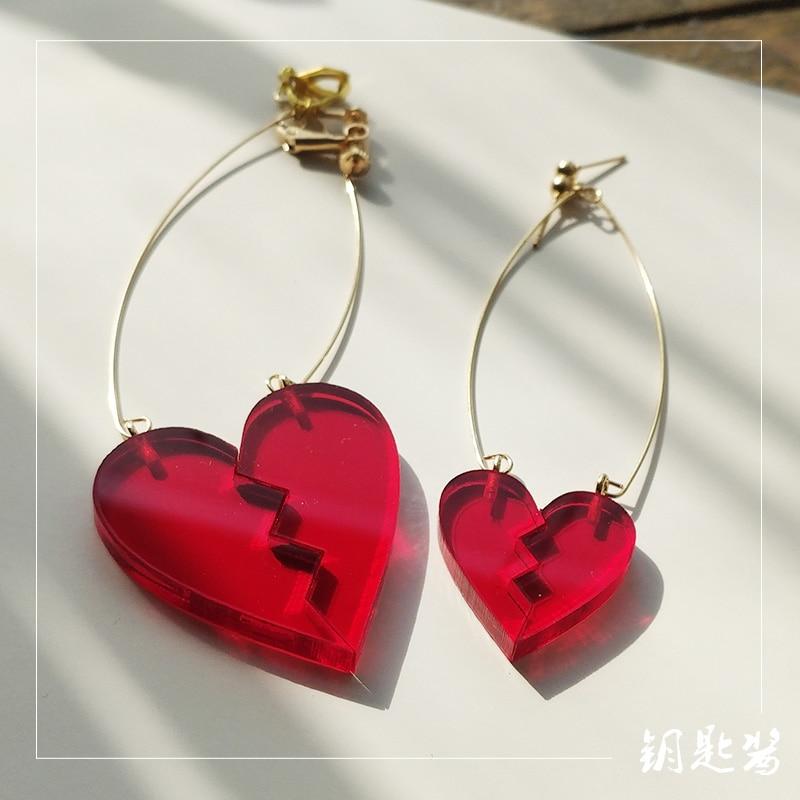 Anime JoJo's Bizarre Adventure Earrings Ear Nail Kakyoin Noriaki Broken Heart Drop Cherry Stud Ear Cosplay Prop
