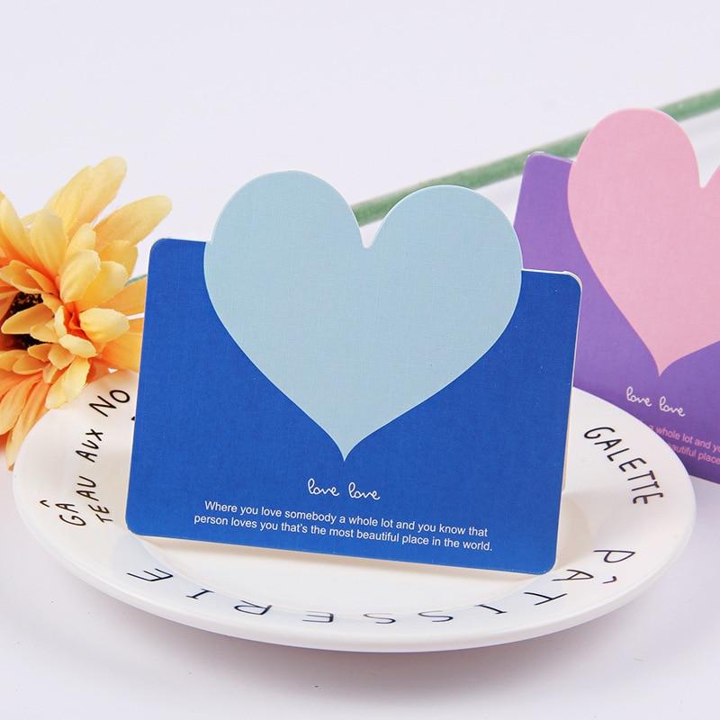 Купить с кэшбэком 1pcs LOVE Hearts Handmade Heart Message Card DIY Valentine's Day Birthday Party Creative Greeting Cards Postcards New Year Party