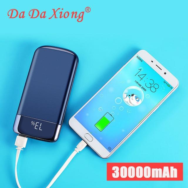 Внешнее зарядное устройство для Xiaomi MI iphone X, 20000 мАч, портативное зарядное устройство с 2 USB, 2019