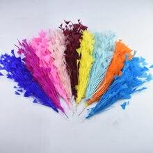 1 букет перья цветы свадебные аксессуары индейки для изготовления