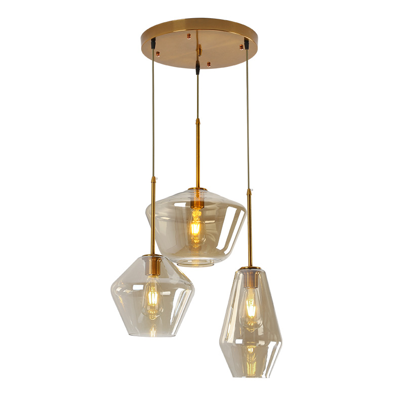 Nordic Modern Glass Pendant lights Fixtures Loft LED Hanging Pendant Lamp for Kitchen Restaurant Living Room