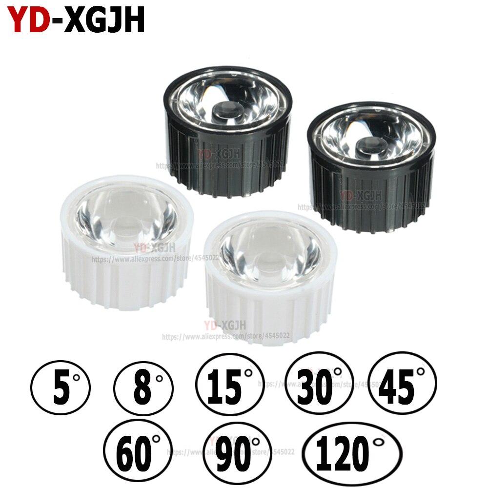 Lens + Bracket 20mm Optical LED Lens PMMA Acrylic 5 10 15 30 45 60 90 120 Degree For 1 3 5 Watt High Power LED Chip