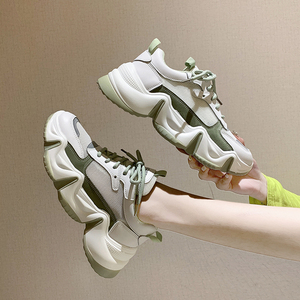 Image 2 - 2020 Platform Women Sneakers Fashion Ulzzang Woman Lace Up mesh Breathable Casual Shoes Female Chunky Vulcanized Shoes 6cm