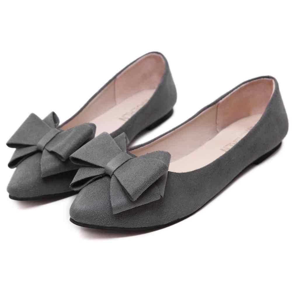 JAYCOSIN kadın moda zarif bayanlar düz tek ayakkabı günlük mokasen ayakkabı kadın tembel ayakkabı rahat düşük topuklu bağcıksız ayakkabı