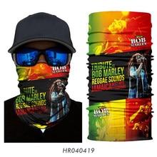 Bob Marley – masque de cyclisme Bandana crâne Reggae, couvre-chef multifonctionnel Hip-Hop, bandeau de motard, écharpes de randonnée