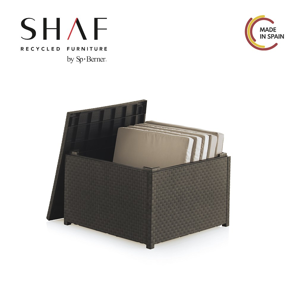 SHAF-Table Storage Garden DIVA-waterproof With Material Effect Ratan Easy To Combine With Your Lawn Furniture