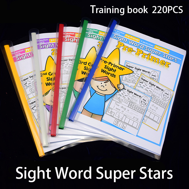 Kids In English 220 Sight Words Super Start Exercise Training Book Reading Workbook Children Educational Learning Games Cards