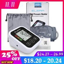 ELERA Монитор артериального давления на руку цифровой портативный измеритель артериального давления сердца для измерения автоматического сфигмоманометра тонометр