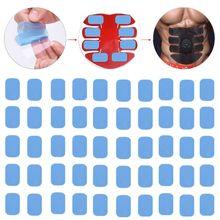 50 Pcs Gel Pads Voor Ems Abs Vet Brander Abdominale Abs Stimulator Trainer Spier Hip Trainer Massage Afslanken Taille Verliezer riem 31