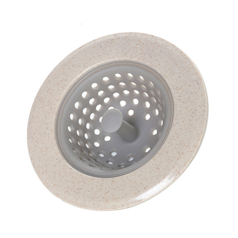 Kitchen Filter Silicone Wheat Straw Strainer Bathroom Shower Drain Sink Drains Cover Sewer Hair Filter For Kitchen Accessories