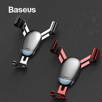 Baseus Universal Gravity Car Holder Air Vent Mount Car Phone Holder for iPhone 11 Pro Max Samsung Mini Mobile Phone Holder Stand 1