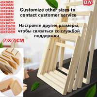 DIY Natural Wood Frame Photo Frame Canvas Frame Diamond Painting Oil Painting Cross Stitch Assembly Inner Frame Home Decoration
