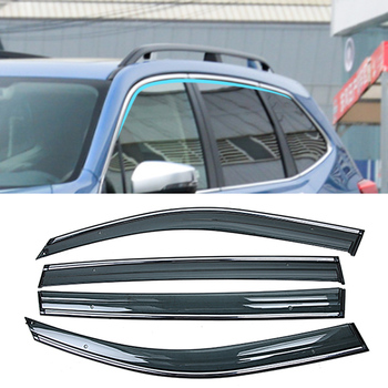 For SUBARU Forester 5TH SK 2018 2019 Car Window Sun Rain Shade Visors Shield Awnings Shelter Protector Cover Trim Frame Sticker