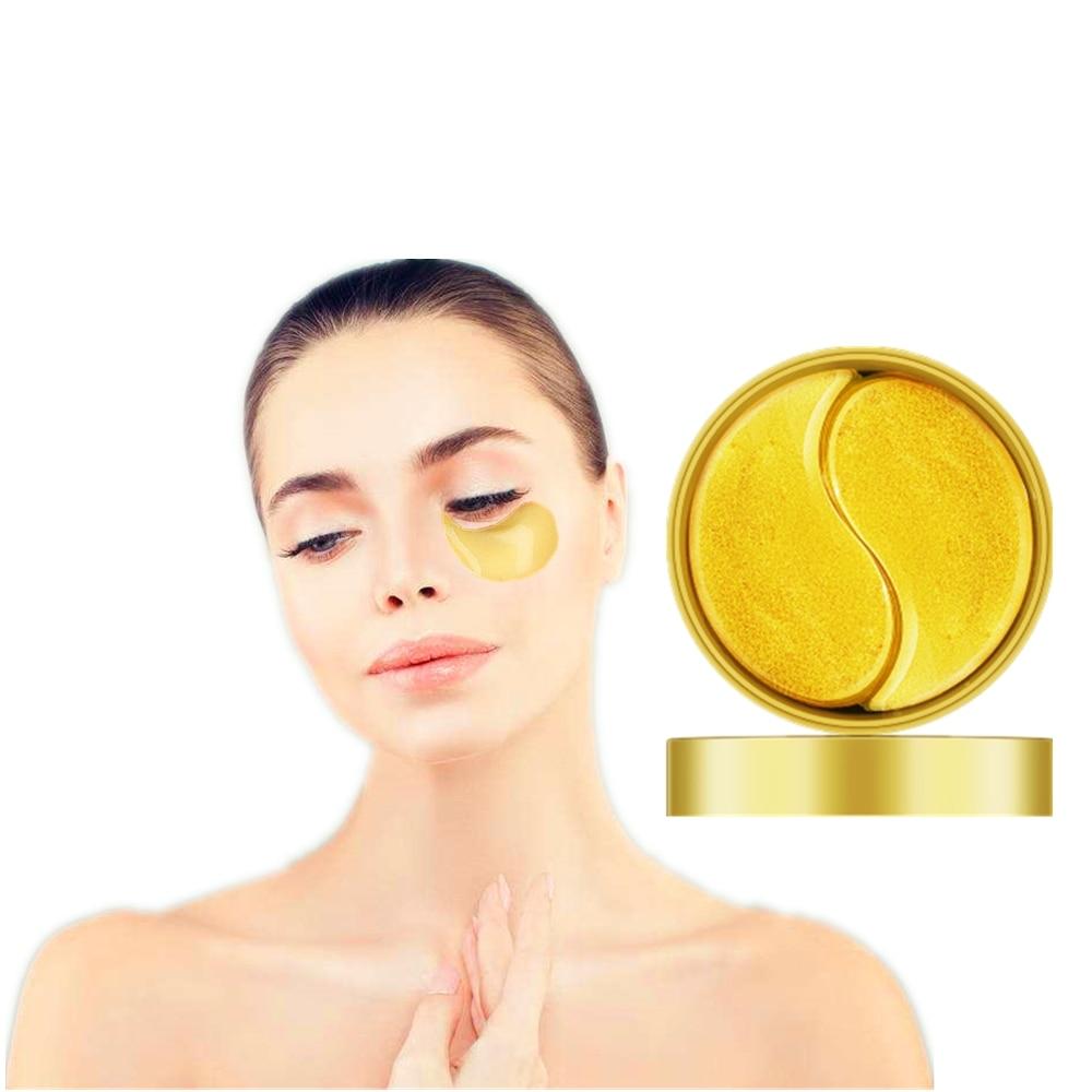 Dark Circles Whitening Eye Mask Anti Wrinkle Gold Collagen Patches Eye Skin Care Snail Cream Soothing Tired Eyes Maski 60Pcs