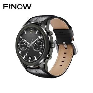 Image 1 - Lem5 pro smart sport watch men Finow X5 heart rate bluetooth WiFi GPS round screen waterproof smartwatch android 5.1 3G network