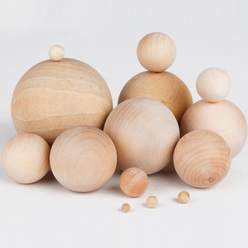 30mm/40mm/50mm/60mm Diameter Natural Wooden Craft Wood Balls Spheres Round Craft Wood Balls Accessories