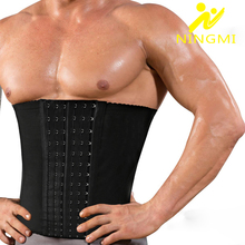 NINGMI Mens Slim Waist Trainer 7 Steel Bone Firm Belt  Cincher Slimming Underwear Strap Body Shapers Shapewear Faja Corset