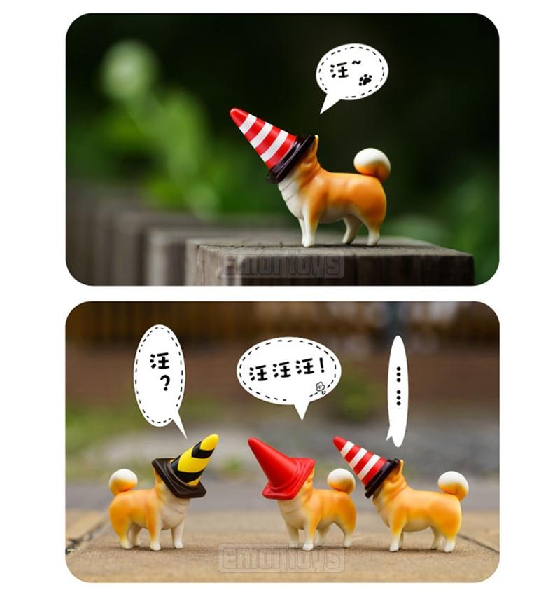 Genuine Product Actoys Spiral Dog Garage Kit Capsule Toy Akita Dog Blind Box Anime Peripheral Desktop Ornaments