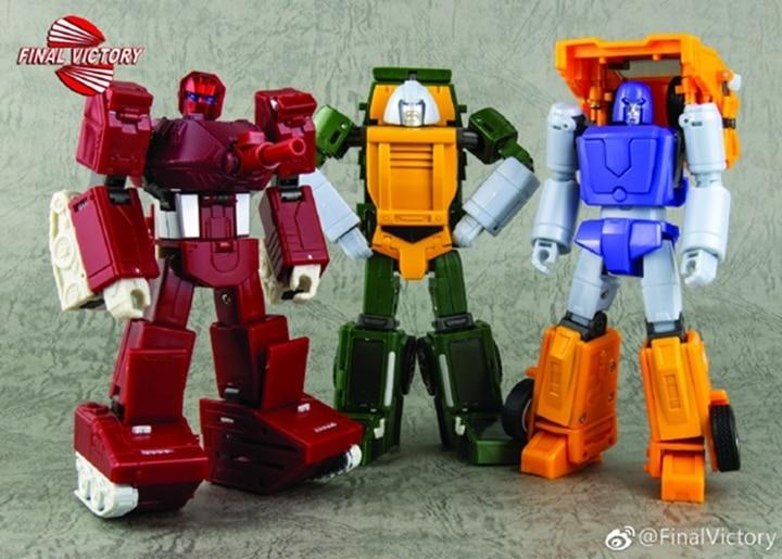 FinalVictory FV G1 Transformation War Machine Brawn Huffer Set of 3 Mighty Warriors Action Figure Robot Toys