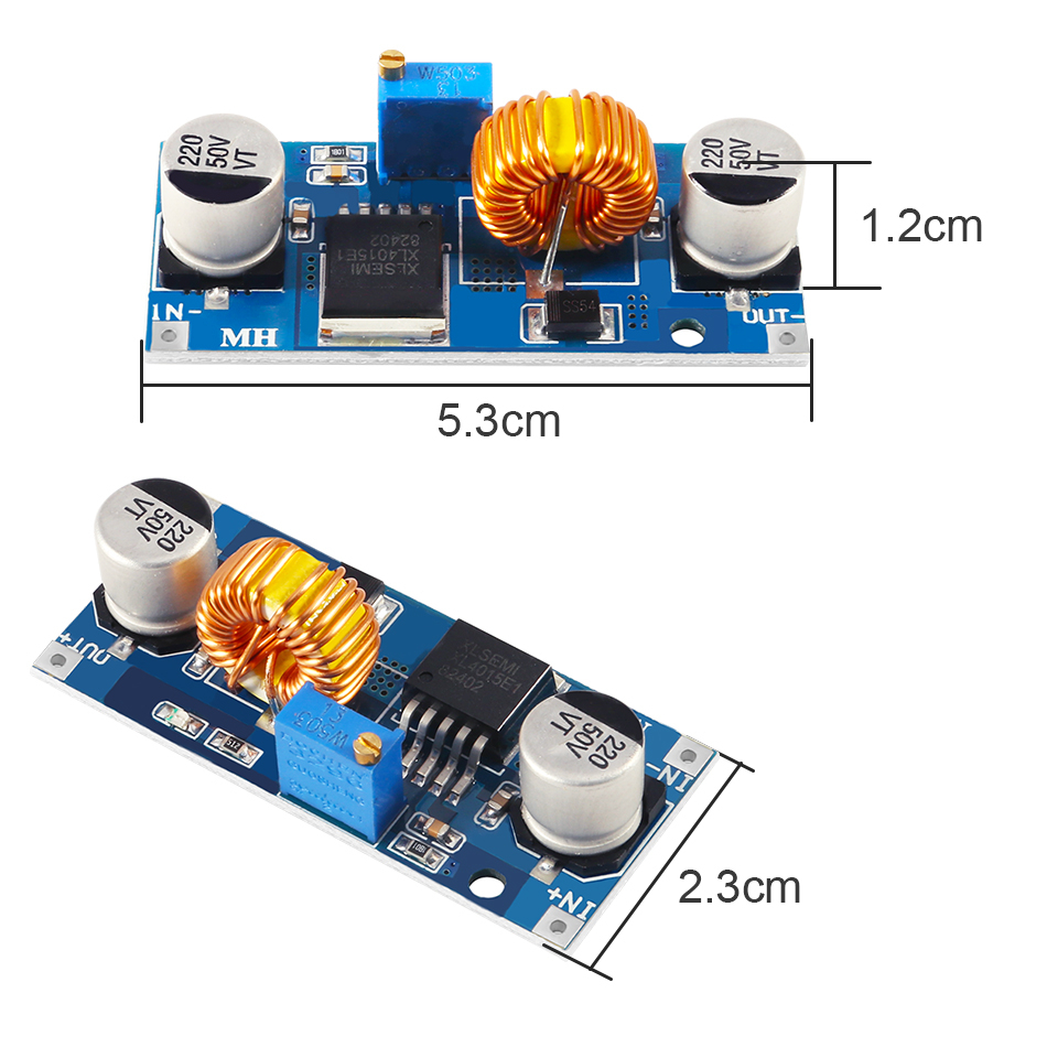 Original Xl4015 E1 5a Dc To Dc Cc Cv Lithium Battery Step Down Charging Board Led Power Converter Lithium Charger Module