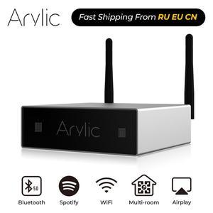 Image 1 - Домашний мини усилитель Arylic A50, Wi Fi и Bluetooth, Hi Fi, стерео, класс D, цифровой мультикомнатный усилитель с эквалайзером Spotify Airplay, бесплатное приложение