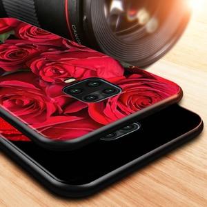Image 2 - وردة حمراء زهرة ل شاومي Redmi نوت 10 10S 9 9T 9S 9Pro ماكس 8T 8Pro 8 7 6 5 برو 5A 4X 4 لينة أسود قضية الهاتف