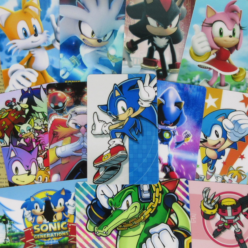 40pcs Sonic The Hedgehog Characters Stickers Tails Knuckles Shadow