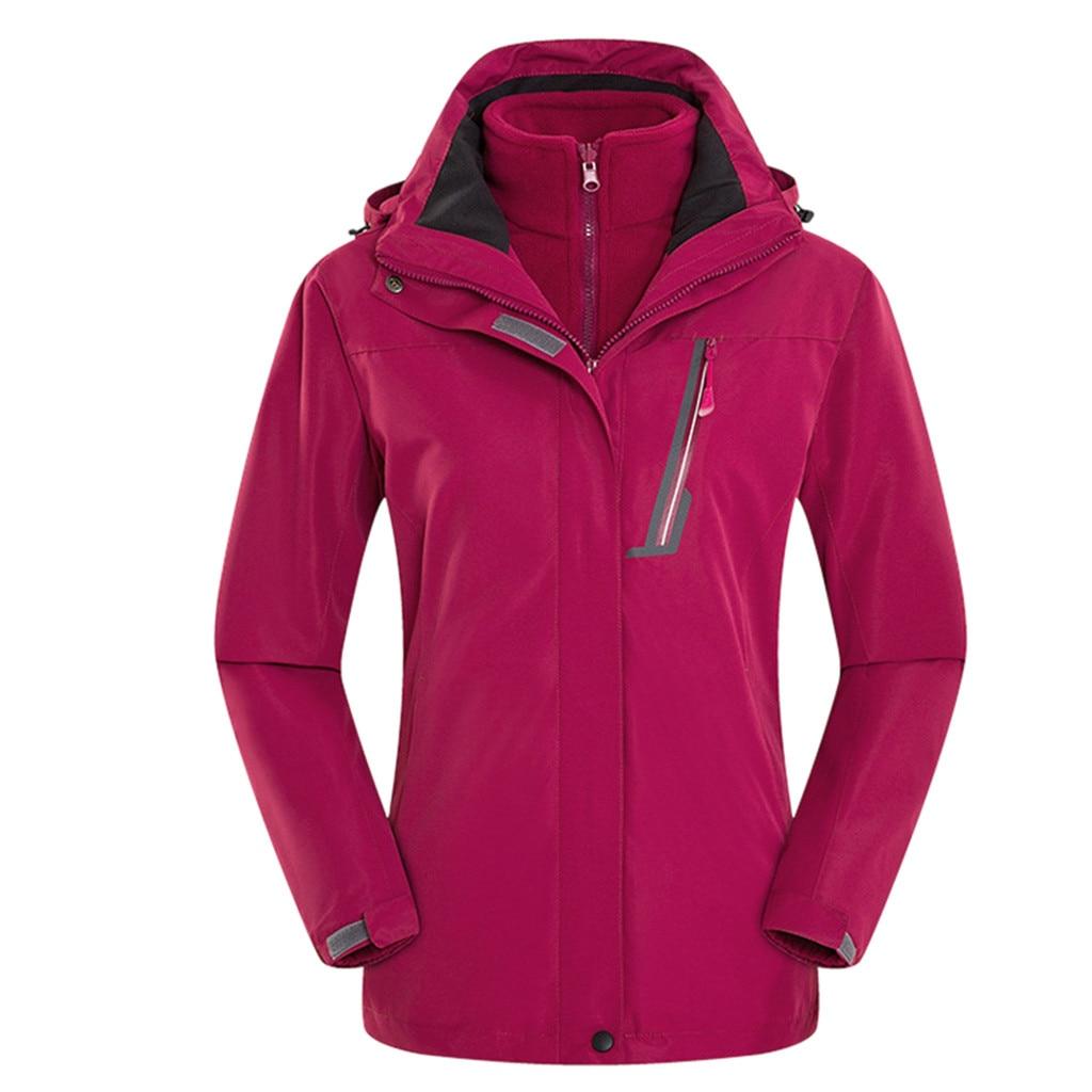 Couple Casual Autumn Winter Long Sleeve Hooded Zipper Fleece Outdoor Jackets Sun Protection Jackets Ultra Light Windbreaker - 3