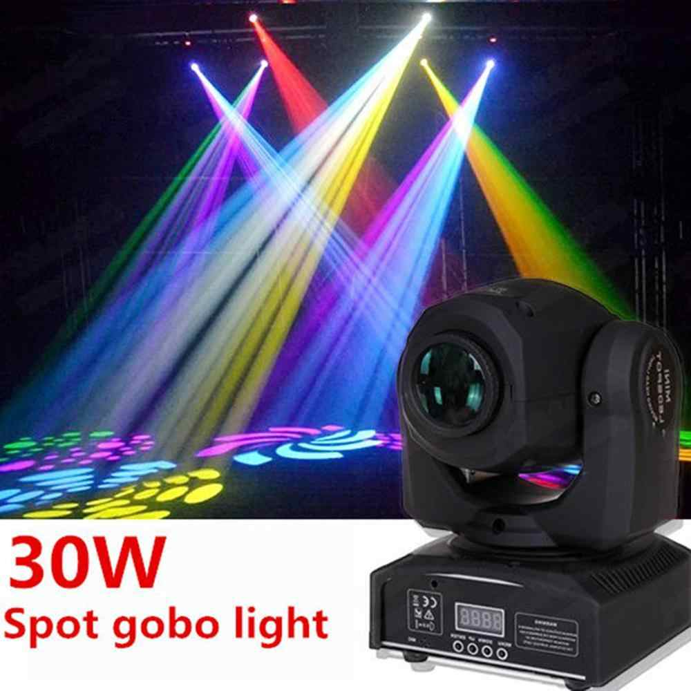 Mini Spot 30W LED Spot Lampu Moving Head/DJ Controller LED Gobo Lampu Lampu Beam