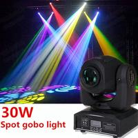 Mini Spot 30W dmx dj led stage lights LED Spot Gobo lighting Moving Head Light/ dj controller LED gobo Lights beam lights
