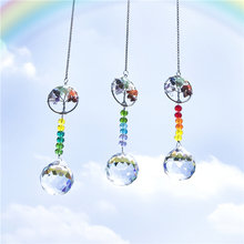 Prisms-Ornament Crystal-Ball Rainbow Tree-Of-Life-Suncatchers Garden-Decor Window
