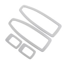 Car Styling 4 sztuk zestaw Panel ze stali nierdzewnej z dekoracja okienna box dla BMW serii 3 3GT 316 320I F35 F30 320 328 13 14 15 tanie tanio Wewnętrzny CN (pochodzenie) Inne naklejki 3d 15cm cartoon STAINLESS STEEL Kreatywne naklejki Nie pakowane B3FSK0010S