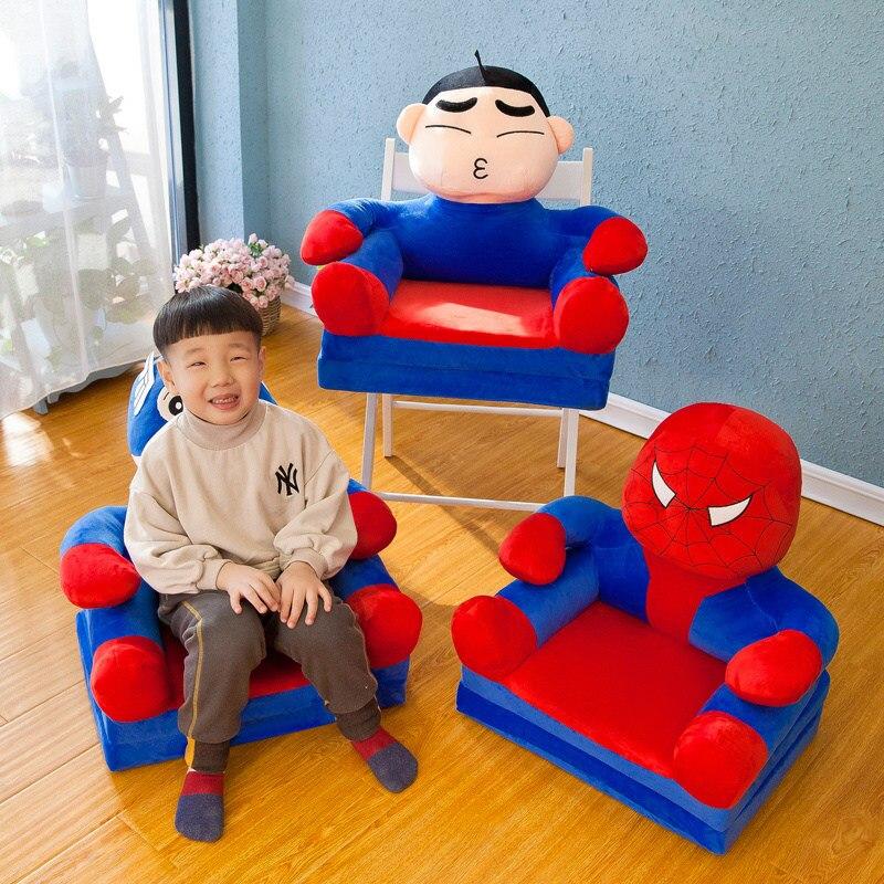Dessin animé point Totoro Spiderman Batman enfants cadeaux canapé chaise en peluche animaux jouets doux bébé nid sommeil lit oreillers coussin en peluche