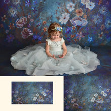 Художественный фон для фотосъемки новорожденных девочек винтажный