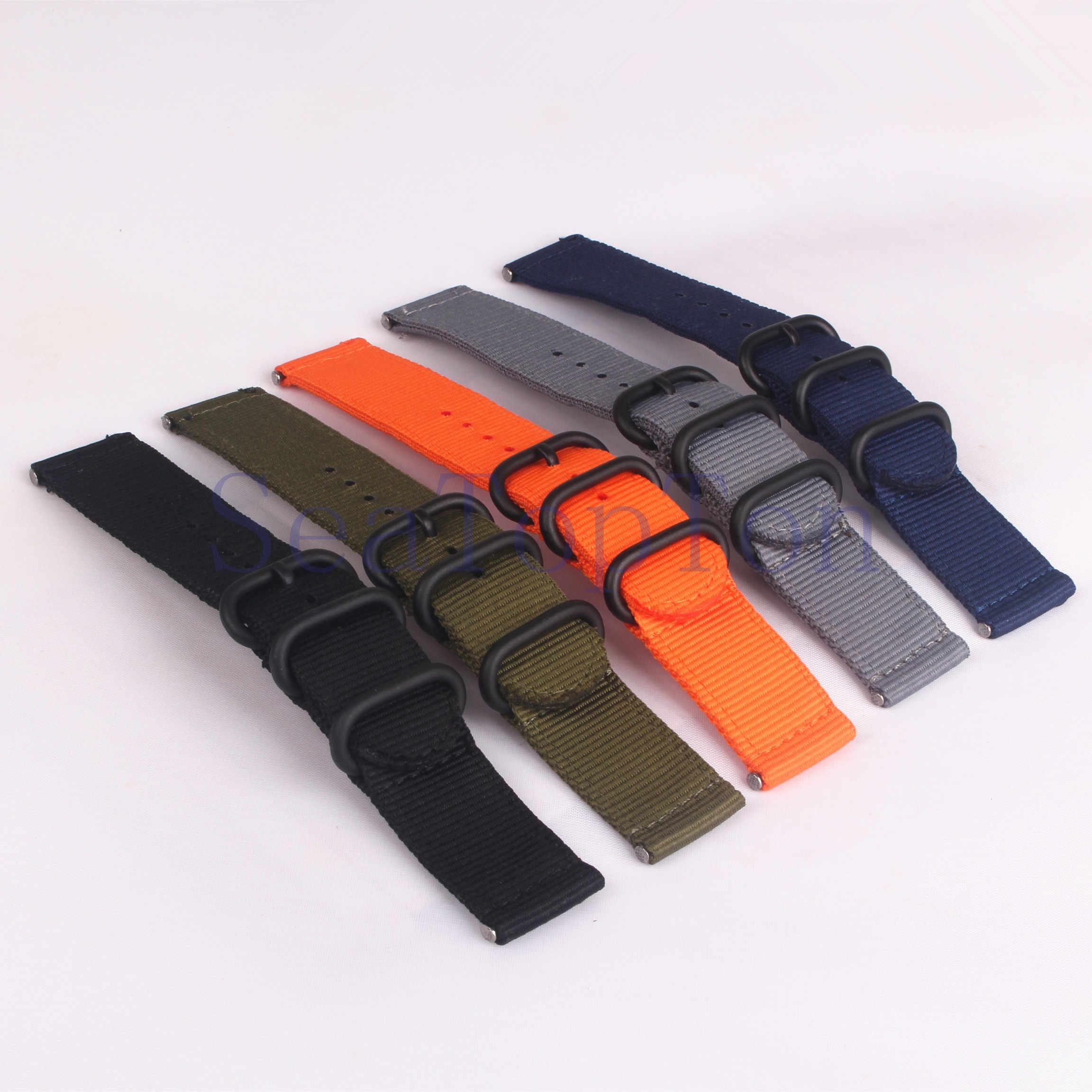 Mua 2 Tặng 10%) phát hành nhanh thanh lò xo đen Khóa Vòng 22mm Watchbands Nam Nữ Đồng Hồ Dây Đeo Đồng Hồ Đeo Tay Dây Khóa